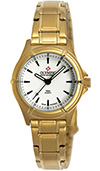 Olympic Ladies Gold Plated Work Watch White Dial