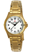 Olympic Ladies Gold Plated Work Watch White Dial with Numbers