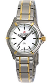 Olympic Ladies 2 Tone Work Watch White Dial