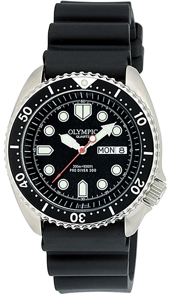 Olympic Mens 300m Divers Watch - Click Image to Close