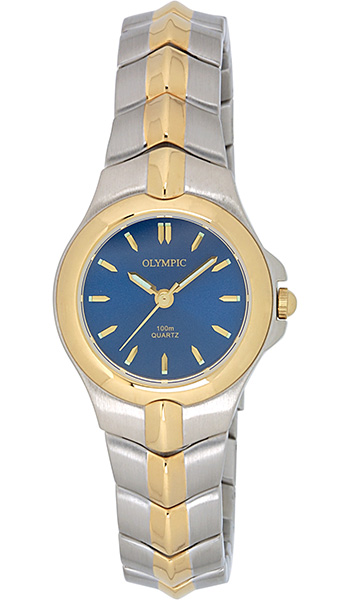 Olympic Ladies 2-tone Sports Watch 100m water resistant - Click Image to Close