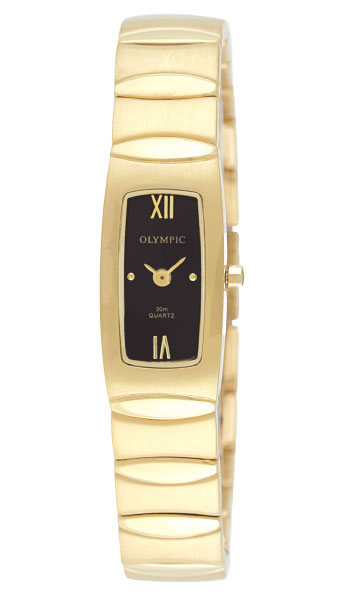 Olympic Ladies Gold plated and link bracelet - Click Image to Close