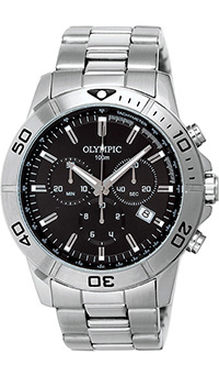 Olympic Gents Sports Watch with Chrongraph and Black Dial