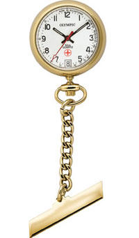 Olympic Gold Plated Nurses Fob Watch with Date