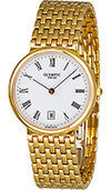 Olympic Gents Gold Genuine Swiss Made Watch White Dial