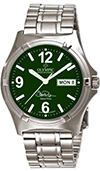 Olympic Mens Work Watch Steve Price Signature Green Dial