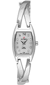 Olympic Ladies Silver Watch with Cross Over Bracelet