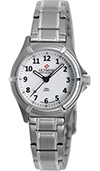 Olympic Ladies Steel Work Watch White Dial with Numbers