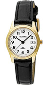 Olympic Ladies Gold Plated Watch and Black Strap