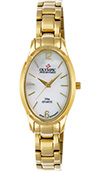 Olympic Ladies Gold On Steel Watch Mother Of Pearl Dial