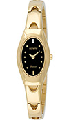 Olympic Ladies Gold Plated Watch with Diamond set dial