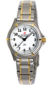 Olympic Ladies 2 Tone Work Watch White Dial with Numbers